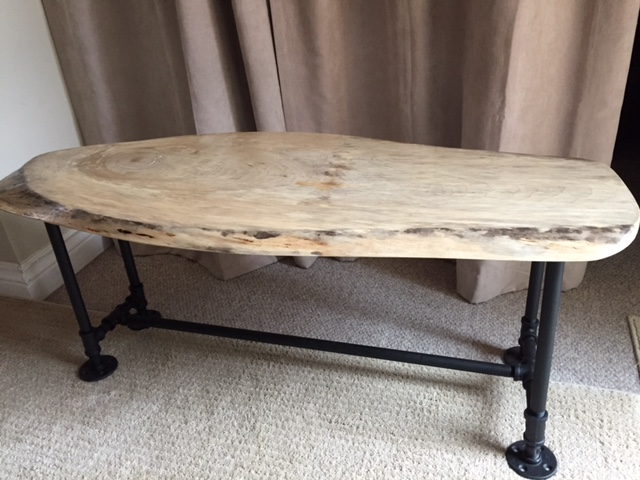 Live Edge Table With Metal Legs ...