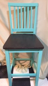 Stools have been primed and chalk-painted but can be repainted in your preferred colour.