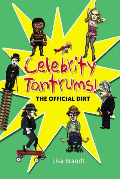 cover is green with a yellow starburst and features bang-on drawings of Michael Jackson, Mike Tyson, Madonna, Bill Clinton, Charlie Chaplin and Woody Allen